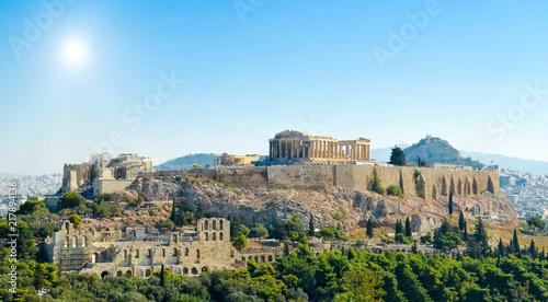 Printed kitchen splashbacks Athens Parthenon acropolis sky sun Athens Greece