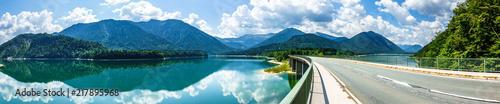 Foto op Canvas Bergen sylvenstein lake