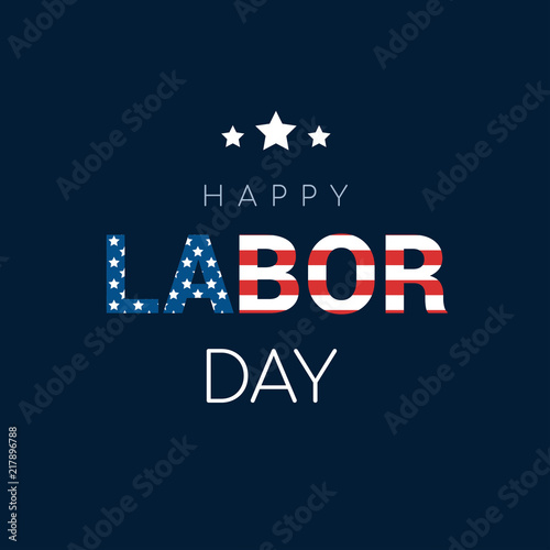 Fotografia Happy Labor Day Card Vector illustration