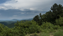 Lush Summer Landscape In The Ouachita Mountains, Oklahoma
