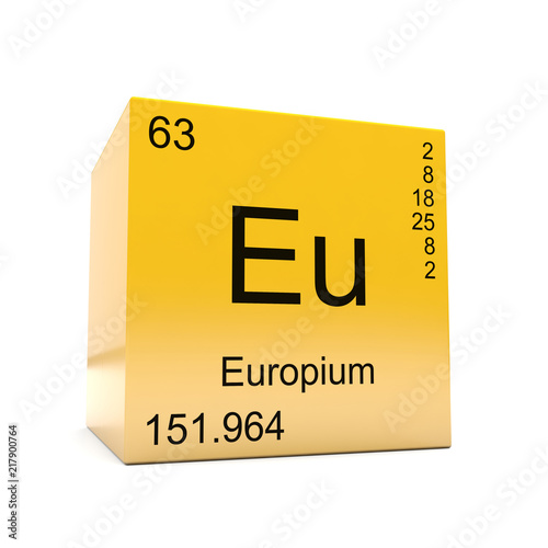 Europium Chemical Element Symbol From The Periodic Table Displayed