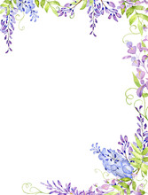 Hand Drawn Watercolor Bouquet Of Flowers And Leaves.Watercolor Illustration. You Can Use For Decoration Of Postcards, Wedding Invitations, Parties, Flyers, Decorative Design.