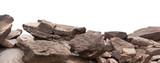 Fototapeta Kamienie - rock isolated on white background