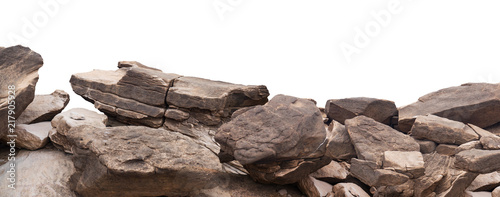 Tablou Canvas rock isolated on white background