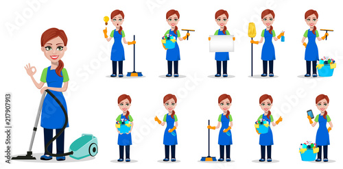Cleaning company staff in uniform
