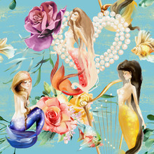 Beautiful Watercolor Mermaids ...
