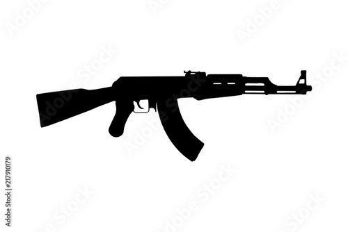 Kalashnikov AK47 machine gun. Silhouette Wallpaper Mural