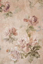 Vintage Background With Roses ...