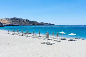 Crete. The Beach Of Damnoni