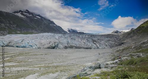 Deurstickers Gletsjers Reid Glacier, Glacier Bay, Alaska