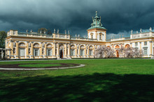 Old Antique Palace Wilanow In Warsaw