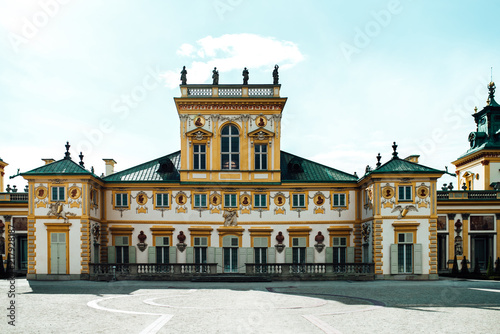 Fototapeta Old antique palace Wilanow in Warsaw obraz