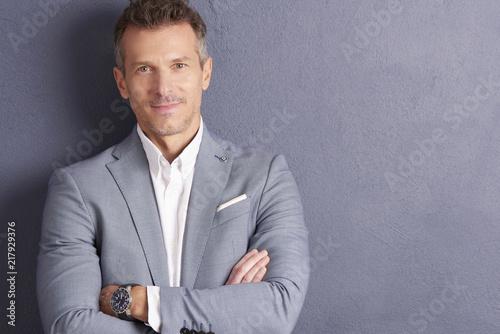 Obraz Mature businessman portrait - fototapety do salonu