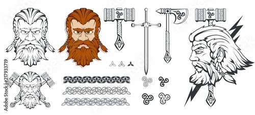 Платно Scandinavian god of thunder and storm