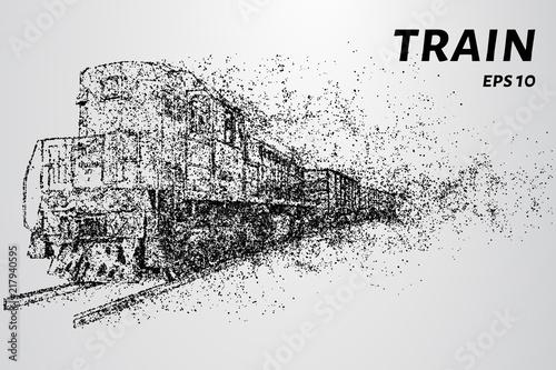Cuadros en Lienzo The train of particles.