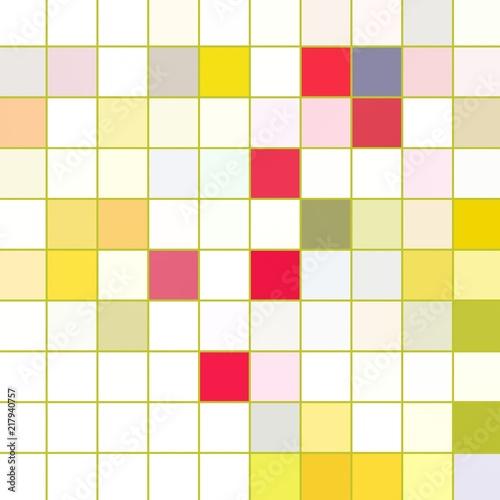 Photo sur Toile Pixel Pixel 2d pattern. Multiple colors. Illustration backdrop.