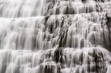 Detail of the Dynjandi waterfall in Iceland