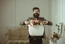 Bearded Man. Bearded Man Hold ...