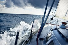Stormy Weather On The Sea. A V...