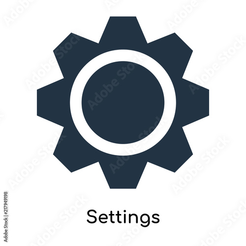 Láminas  Settings icon vector isolated on white background, Settings sign