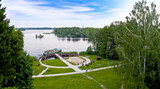 Fototapeta  - Lake Landscape from the Bismarck Tower in Szczecinek - Poland