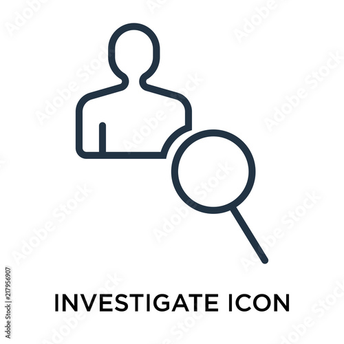 Foto  investigate icon isolated on white background