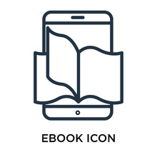 Ebook Icons Isolated On White ...