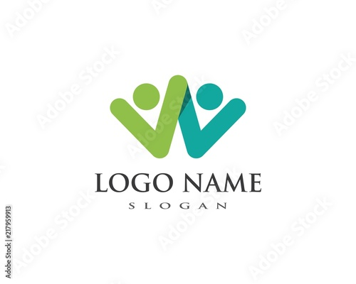 Fotografia  community care Logo template