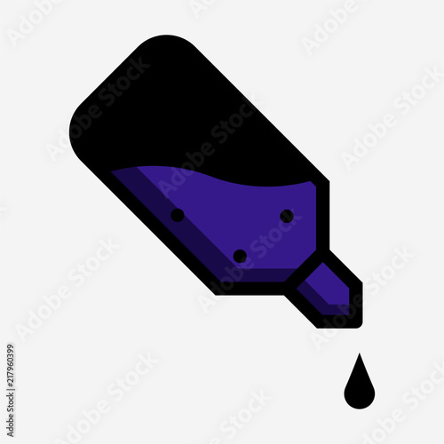 Photo Coloured outline bactericide pixel perfect vector icon