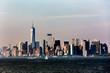 Panoramic view of Lower Manhattan, New York City, USA.
