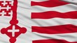 Soest closeup flag, city of Germany, realistic animation seamless loop - 10 seconds long