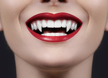 Sexy Female Vampire Lips. Mons...