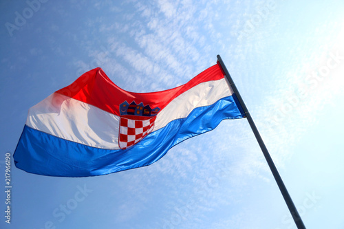 Flag of Croatia, blowing in the wind Poster