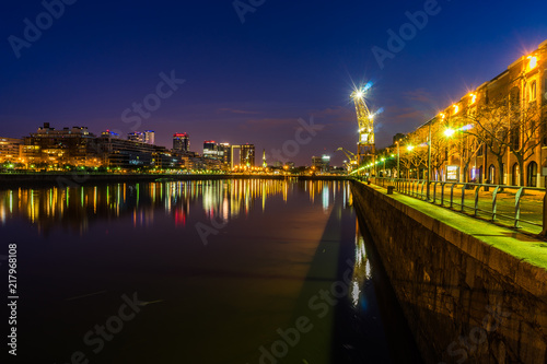 In de dag Buenos Aires Night View Harbour Puerto Madero district in Buenos Aires Argent