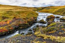 Small Waterfall Above Skogafoss
