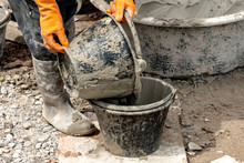 Pour Cement Into The Tank