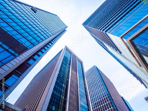 Keuken foto achterwand New York City Beautiful skyscraper with architecture and building around city