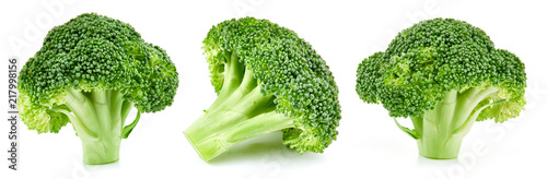 Deurstickers Verse groenten raw broccoli isolated