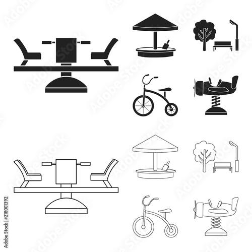 Foto  Carousel, sandbox, park, tricycle