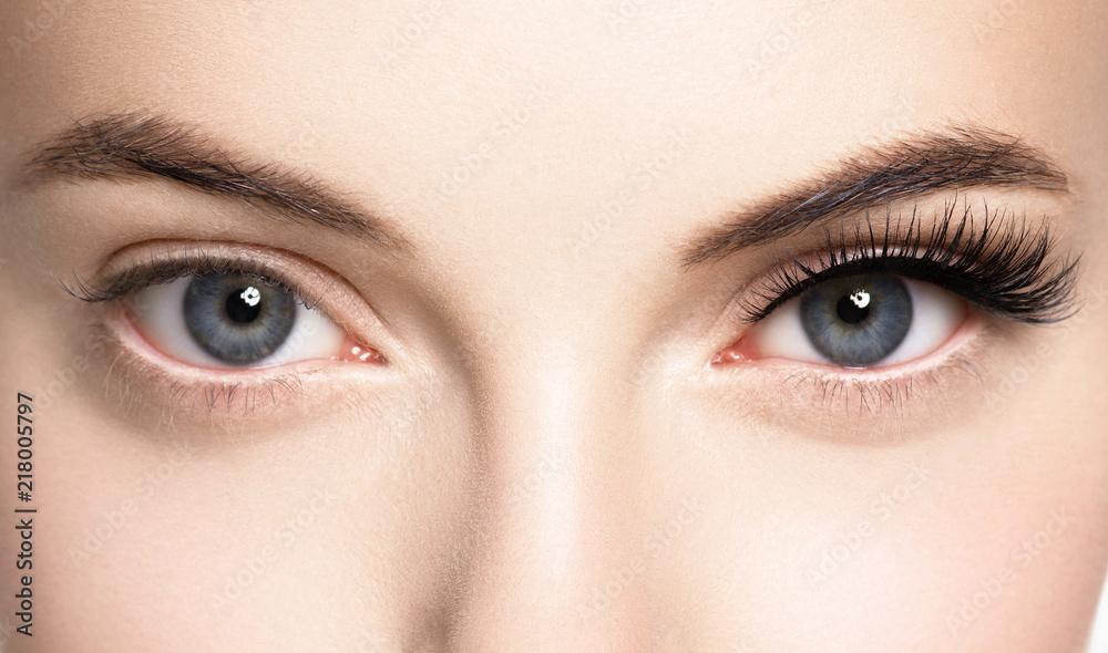 Fototapety, obrazy: Lashes woman face eyes closeup