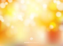 Abstract Autumn Season Blurred Bokeh Background.