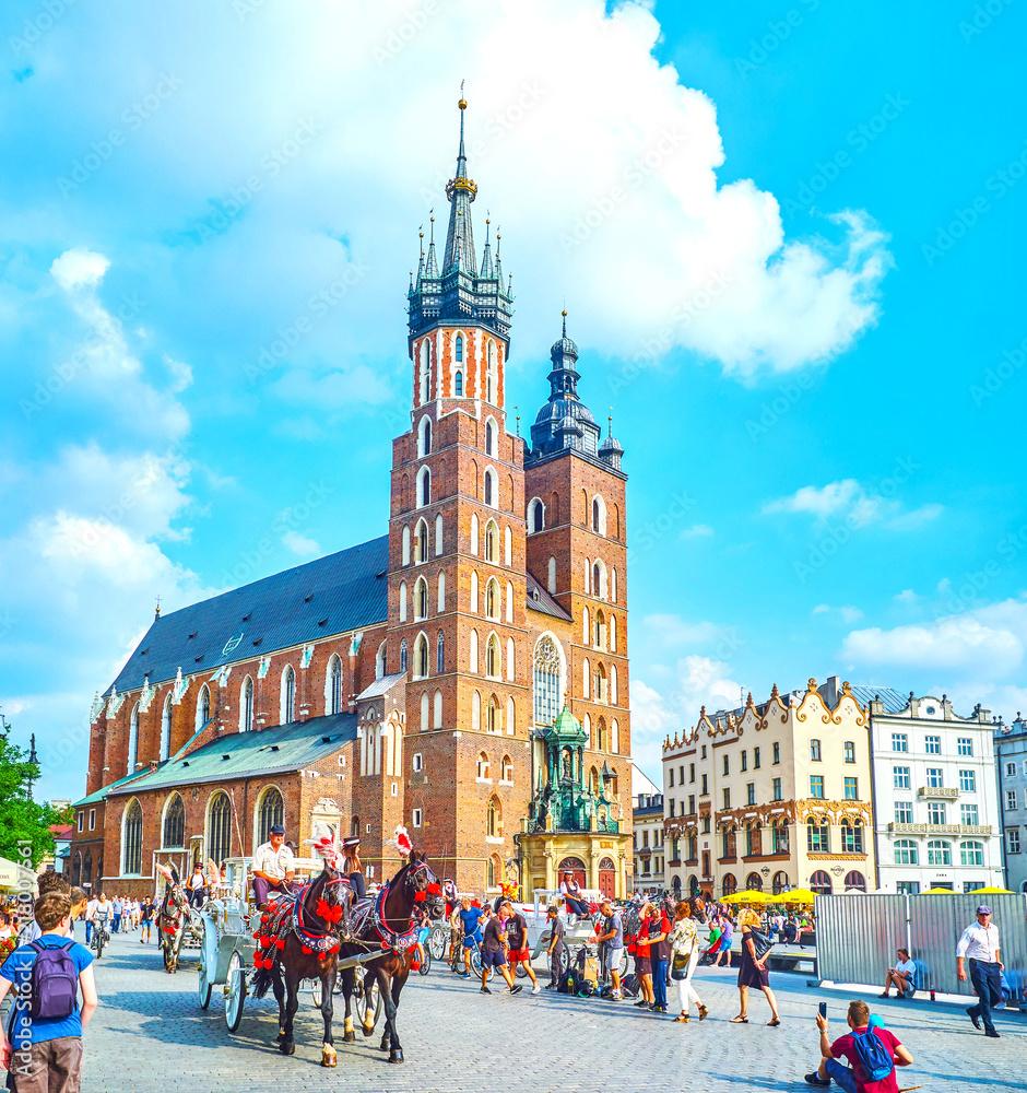 Fototapety, obrazy: The central landmark of Krakow, Poland