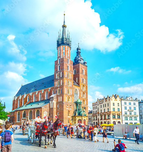 Photo sur Toile Cracovie The central landmark of Krakow, Poland
