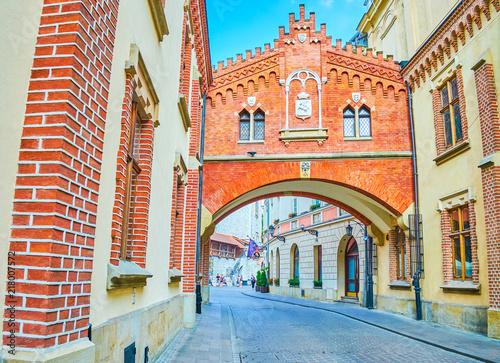 fototapeta na ścianę The historic Pijarska street in old Krakow, Poland