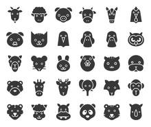 Cute Animal Face Included Farm...