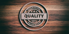 Round Metal Sign With Text Qua...