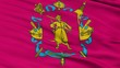 Zaporizhia Oblast closeup flag, Ukraine, realistic animation seamless loop - 10 seconds long