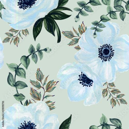 akwarela-zawilec-gwasz-kwiatowy-i-liscie-recznie-rysowane-kwiatowy-ilustracja-wzor