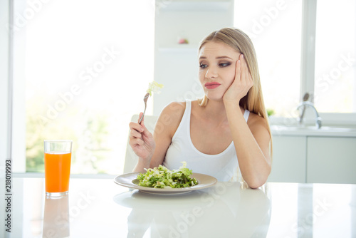 This food is not tasty unpalatable unappetizing Close up photo Canvas Print