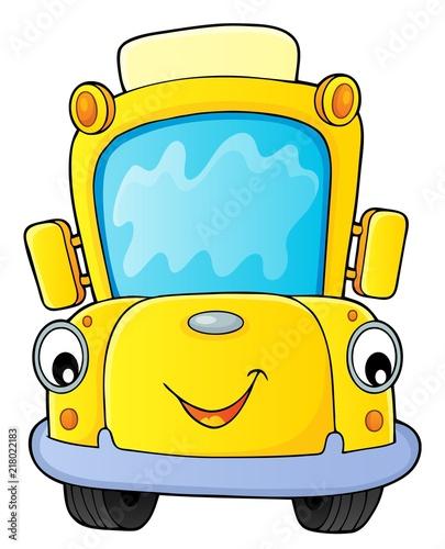 Poster Voor kinderen School bus thematics image 4